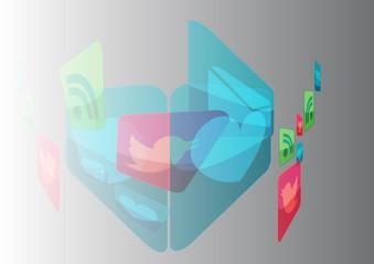 Social Media web concept icons