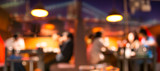 Fototapety Coffee shop blur background with bokeh image