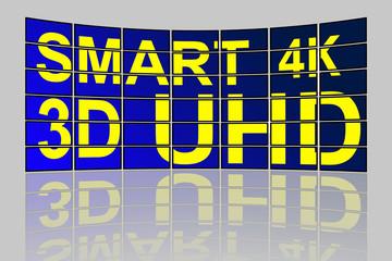 Ultra High Definition smart TV concept