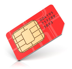 Red SIM card