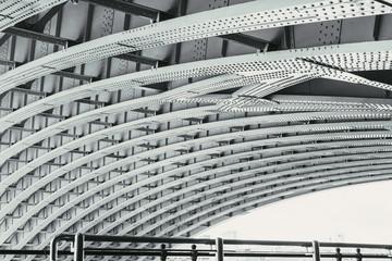 View under the Blackfriars Railway Bridge in London, UK.
