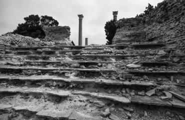 Italy, Giannutri Island, Roman house ruins - FILM SCAN