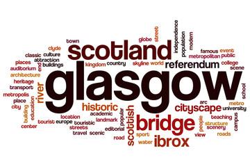 Glasgow word cloud