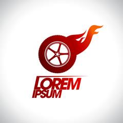 Red hot wheel logo.