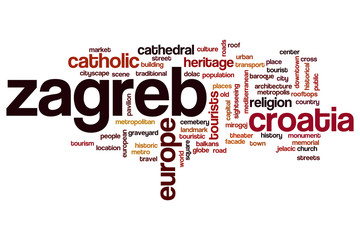 Zagreb word cloud