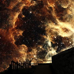Sons of stars (Elements of this image furnished by NASA)