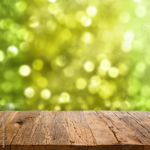 Zdjęcia na płótnie, fototapety, obrazy : Table with bokeh background