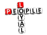 3D Crossword Loyal People on white background poster