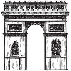 France vector logo design template. Paris or architecture icon.