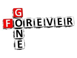 3D Crossword Forever Gone on white background