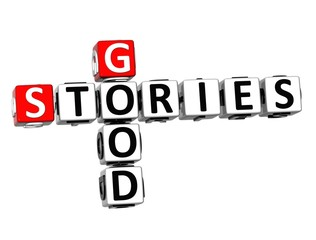 3D Crossword Good Stories on white background