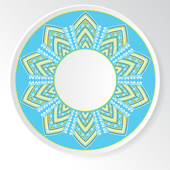 Circular ethnic oranament. Vector illustration
