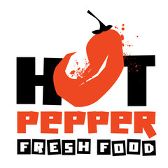 chilli peppers vector logo design template. vegetable or food