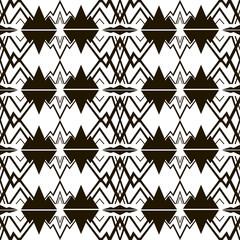 Modern black and white seamless pattern