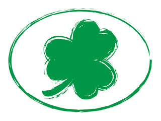 green grunge shamrock symbol