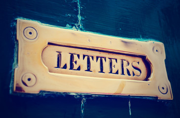 Letter box close-up, toned