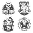 Set of four mma emblems - 78545478