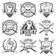 Set of cool fighting club emblems. - 78545481