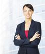 Business Woman Portrait, Hands crossed