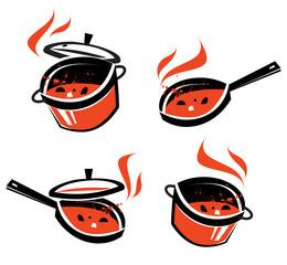 kitchen utensils vector logo design template. cooking or food