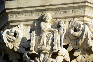 Architecture details near San Marco Piazza at Venice Italy