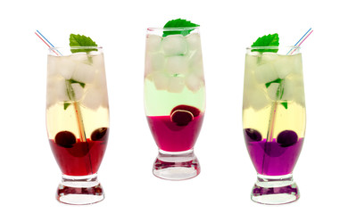 cocktail with cherry and mint