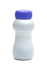 plastic bottle on the white background