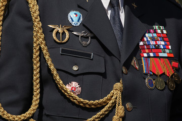 Czech military decoration on uniform