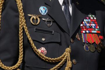 Czech military decoration on uniform
