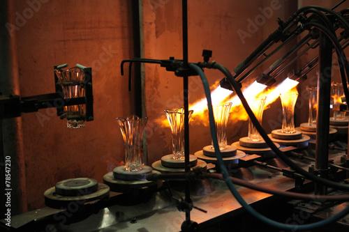 Bohemian glass factory in Svetla nad Sazavou, Czech Republic. - 78547230