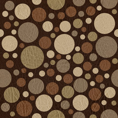 Abstract circular pattern - different colors - leather texture