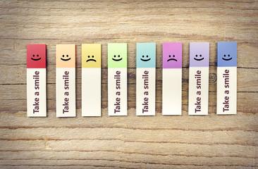 Take smile ads.