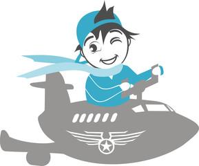 Enfant pilote d'avion