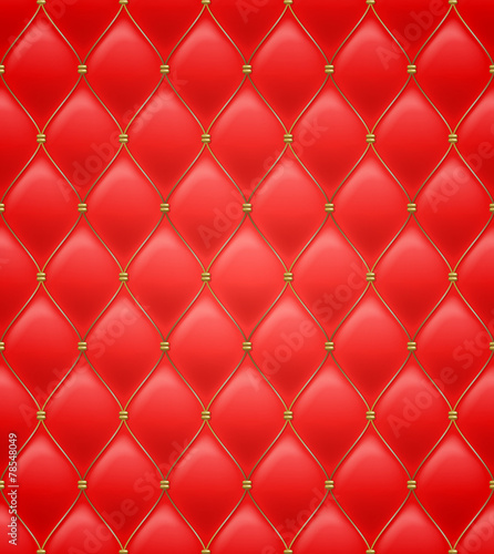 Quilted seamless pattern. Red color. - 78548049