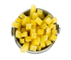 chopped potato