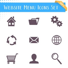 Website menu icons