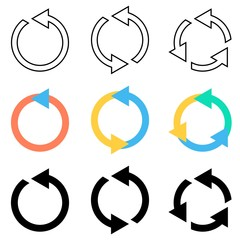 Rotating circle arrows