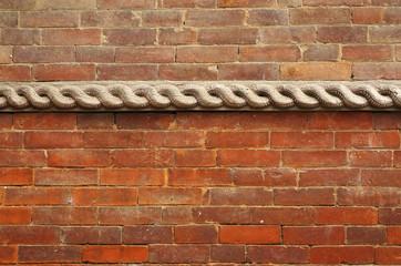 Wooden work on the wall of Hanuman Dhoka Durbar
