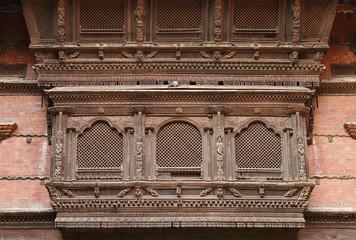 Beautiful ancient window of Hanuman Dhoka Durbar