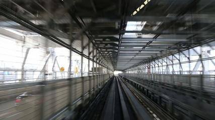 modern monorail in Japan