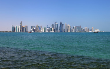 Beautiful Doha skyline