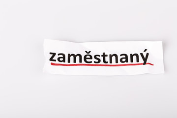 The word employed in czech language