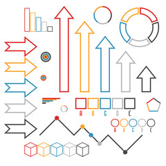 Set of infographics elements. Outline