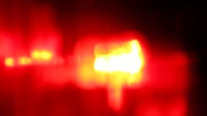 Flashing red LED light at night