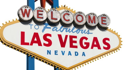 Las Vegas Sign Isolated with Zoom