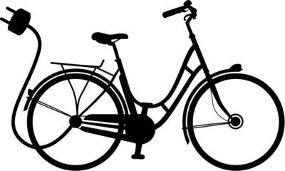 E-Bike Elektrofahrrad Vektor Silhouette