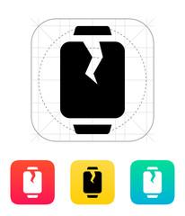 Broken smart watches icon.