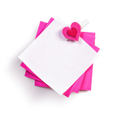 Notepad with heart