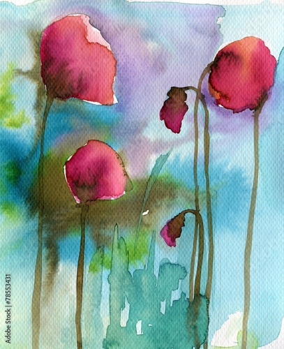 cover, poppies, red © bruniewska