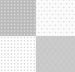 Collection geometric seamless patterns.